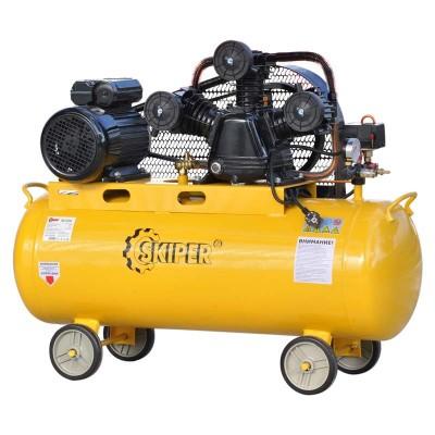 купить Воздушный компрессор SKIPER IBL3100А (до 600 л/мин, 8 атм, 100 л, 220 В, 3.0 кВт)
