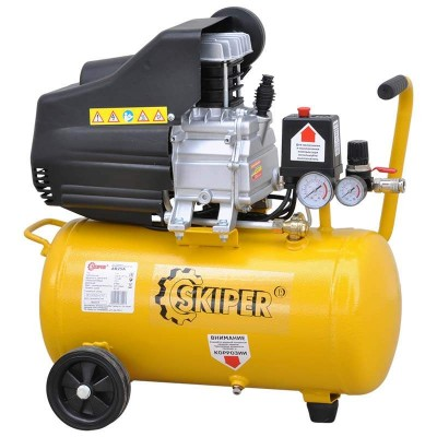 купить Воздушный компрессор SKIPER AR25A (до 235 л/мин, 8 атм, 25 л, 220 В, 1.50 кВт)
