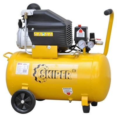 купить Воздушный компрессор SKIPER AR50B (до 260 л/мин, 8 атм, 50 л, 220 В, 1.80 кВт)