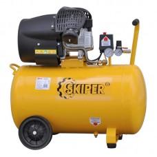 Воздушный компрессор SKIPER AR100V (до 400 л/мин, 8 атм, 100 л, 220 В, 2.2 кВт)
