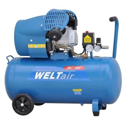 купить Воздушный компрессор WELT AR70VT (до 400 л/мин, 8 атм, 70 л, 220 В, 2.2 кВт)