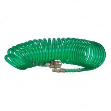 Шланг полиуретановый спиральный 5 м, ф 6/8 мм c быстросъемн. соед. SKIPER PUH-60805