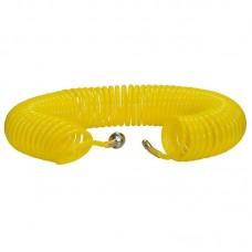 Шланг полиуретановый cпиральный 15 м, ф 6/8 мм c быстросъемн. соед. SKIPER PUH-60815