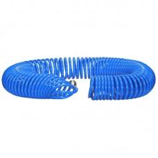 Шланг полиуретановый cпиральный 20 м, ф 6/8 мм c быстросъемн. соед. SKIPER PUH-60820