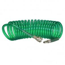 Шланг полиуретановый cпиральный 5 м, ф 8/12 мм c быстросъемн. соед. SKIPER PUH-81205