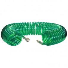 Шланг полиуретановый cпиральный 15 м, ф 8/12 мм c быстросъемн. соед. SKIPER PUH-81215