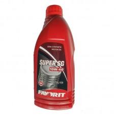 Масло моторное полусинтетическое универсальное всесезонное FAVORIT Super SG SAE 10W-40 API SG/CD