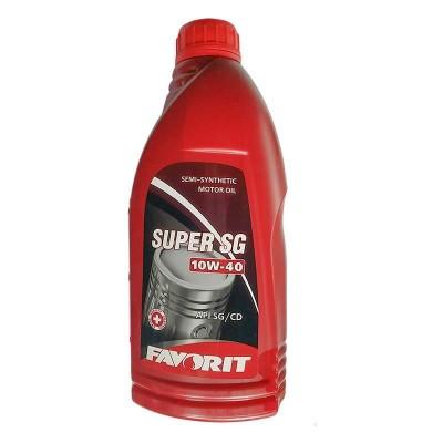 купить Масло моторное полусинтетическое универсальное всесезонное Favorit Super SG 10W40 API SG/CD 1 л