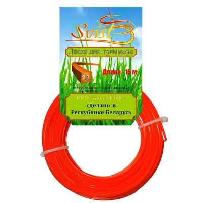 купить Леска триммерная сечение квадрат диаметр 2,4 катушка 15м., ЛТЗ-024015 SVIST, РБ