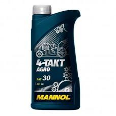 Масло моторное минеральное MANNOL 4-Takt Agro SAE 30 1л