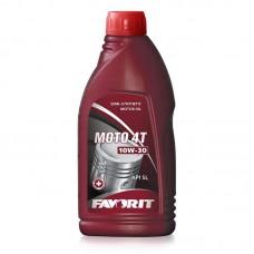 Масло моторное полусинтетическое для четырехтактных двигателей FAVORIT MOTO 4-T SAE 10W-30 API SL 1л
