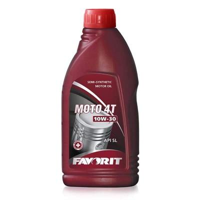 купить Масло моторное полусинтетическое для четырехтактных двигателей Favorit MOTO 4-T SAE 10W30 API SL, 1л