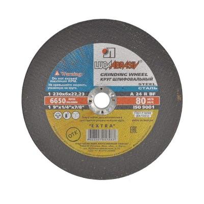 купить Круг зачистной 230х6,0х22,23 мм LUGAABRASIV для металла