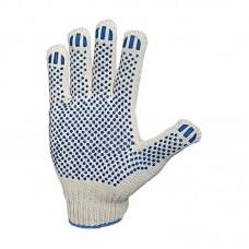 Перчатки рабочие х/б белые, 10 кл. 4 нити, 116 плотн, ПВХ покрытие Точка