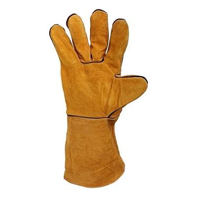 купить Краги сварщика спилковые, без подкладки,частичная защита швов, класс В/С, Арт. S10