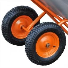 Тачка строительная BRADO 2x130 expert PRO (до 130 л, до 350 кг, 2x4.00-8, пневмо)