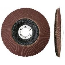 Круг лепестковый 125х22мм А80 конич. КЛТ2 LUGAABRASIV (упаковка 10 шт)