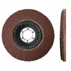 Круг лепестковый 125х22мм А100 плоск. КЛТ1 LUGAABRASIV (упаковка 10 шт)