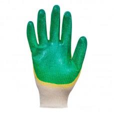 Перчатки хлопчатобумажные с латексным покрытием (двойной облив) 13 класс
