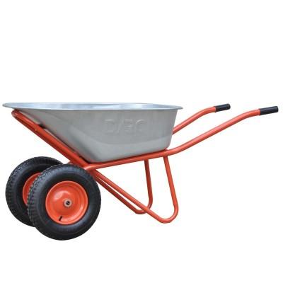 купить Тачка строительная DARC MASTER 2x140 (0,9 мм, до 140 л, до 370 кг, 2x4.00-8, пневмо, ось 20*85)