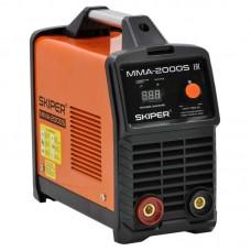 Инвертор сварочный SKIPER ММА-2000S (160-260 В, LED диспл., 120А, 1,6-2,5 мм, электрост. от 6,0 кВт)