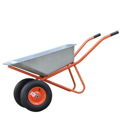 купить Тачка строительная SBK 2x140 (0,9 мм, до 140 л, до 370 кг, 2x4.00-8, пневмо, ось 20*90)