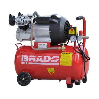 купить Воздушный компрессор Brado IBL50V (до 400 л/мин, 8 атм, 50 л, 220 В, 2,2 кВт)