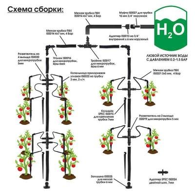 купить Капельный полив от ёмкости SPEC IS1000, комплект тепличный на 64 растения