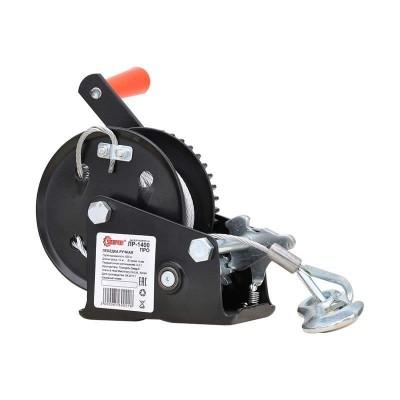 купить Лебедка ручная ЛР1400 ПРО 10м (усиленные шестерни, закалённая сталь)