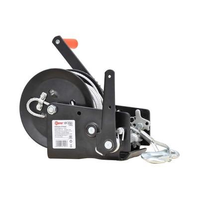 купить Лебедка ручная ЛР 2500 ПРО 10м (усиленные шестерни, закалённая сталь)