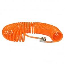 Шланг полиуретановый спиральный 10 м, ф 6/8 мм c быстросъемн. соед. SKIPER ШП-610