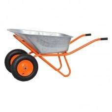 Тачка строительная SKIPER 2х130 expert PRO (до 130 л, до 350 кг, 2x4.00-8, пневмо)