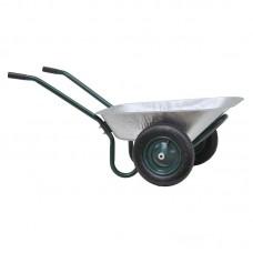 Тачка садовая SKIPER 2x85 FERMER (до 85л, до 150 кг, 2x3.25-8, пневмо)